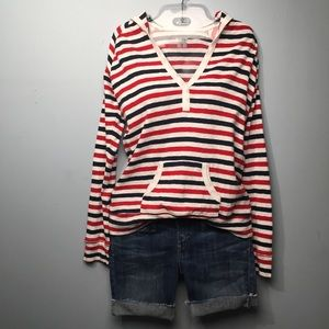 Columbia Hoodie Red White Blue Size M